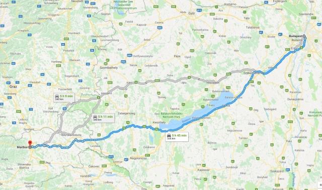 Budapest et Maribor