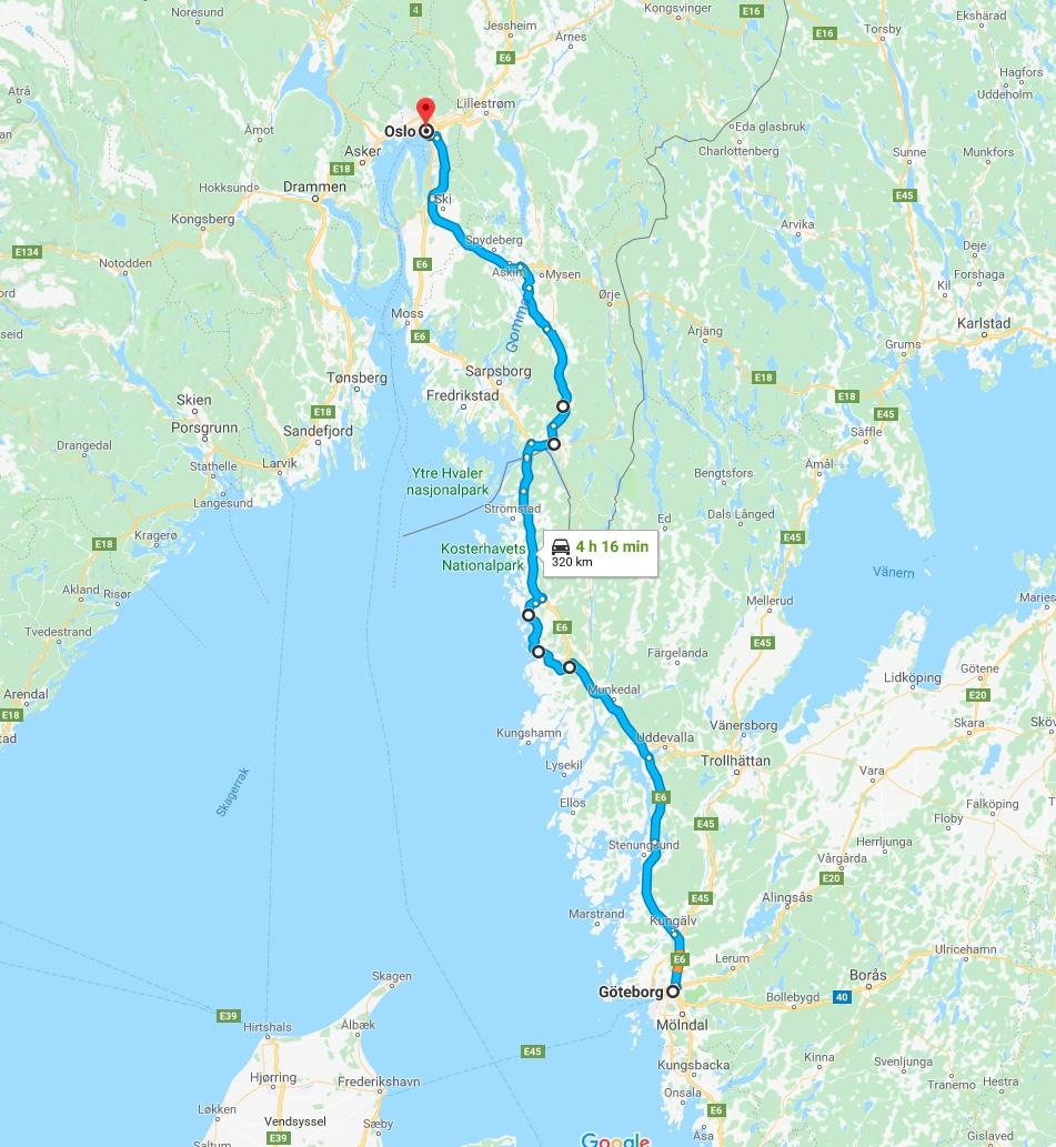 Goteborg-Oslo