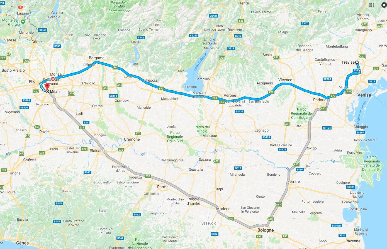 Trevise-Milan