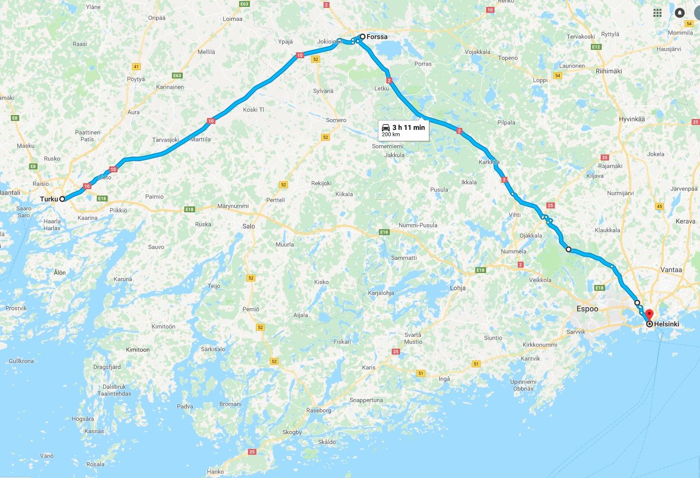 Turku-Helsinskia