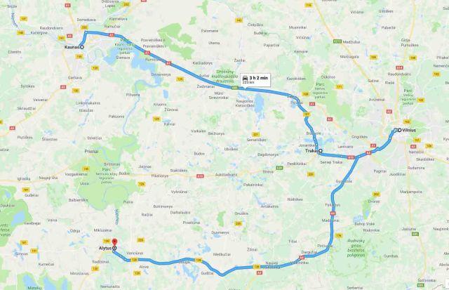 kaunas-Vilnius-Alytus