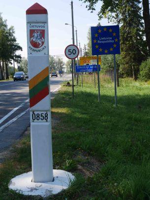 frontière de la Lettonie - 2018