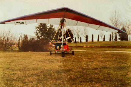 premier vol en ULM - février 1985